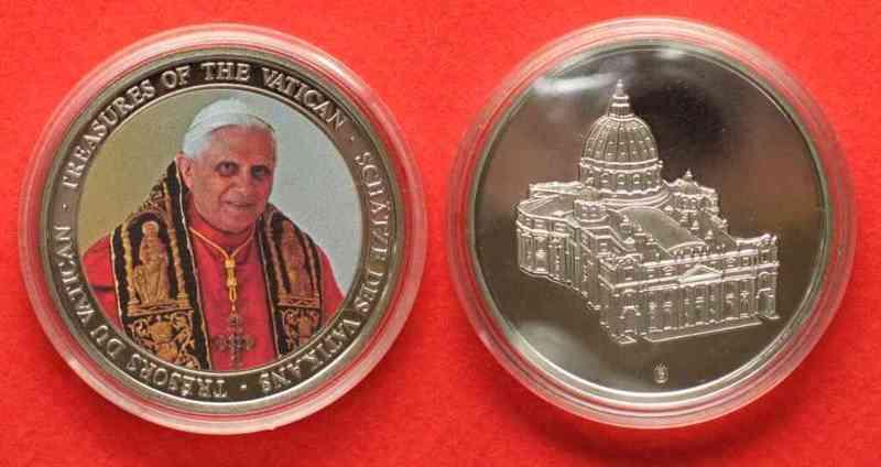 2007 Deutschland Medaillen Treasures Of The Vatican Pope Benedict