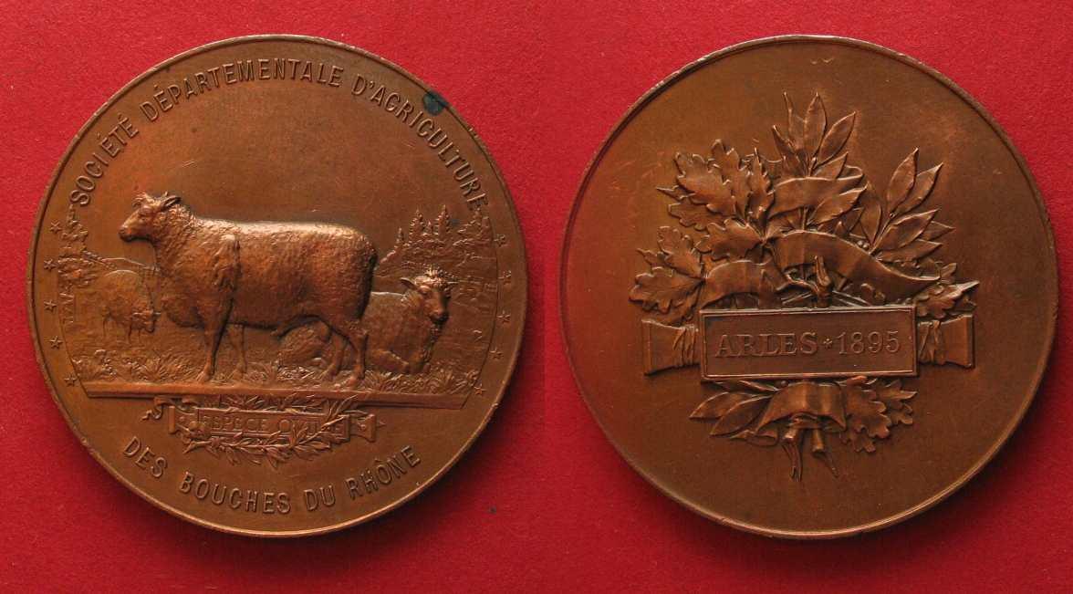 1895 frankreich medaillen societe departementale d for Chambre agriculture bouche du rhone