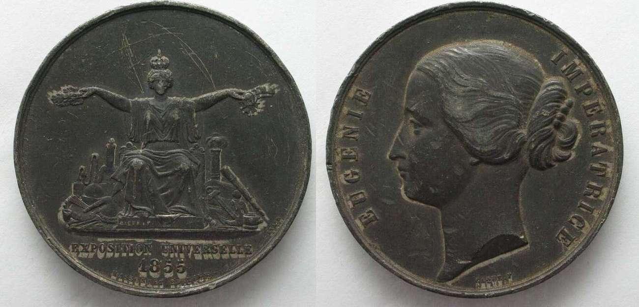 1855 Frankreich - Medaillen EUGENE EMPRESS EXPO 1855 Medal ...