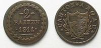 1814 Schweiz - Aargau AARGAU 2 Rappen 181...