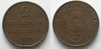 1818 Dänemark DÄNEMARK 2 Rigsbankskilling...