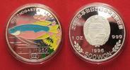 Nordkorea  NORDKOREA 500 Won 1996 Mosaikfadenfisch ZIERFISCHE Silber 1 oz FARBE RRR!# 91447