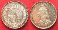 1887 England GROSSBRITANNIEN Shilling 188...