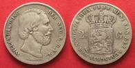 1858 Niederlande NEDERLAND 2-1/2 Guilder ...