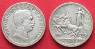 1915 Italien ITALIEN 2 Lire 1915 Quadriga...