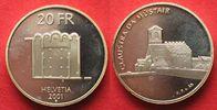 2001 Schweiz EIDGENOSSENSCHAFT 20 Franken...