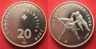 2008 Schweiz EIDGENOSSENSCHAFT 20 Franken...