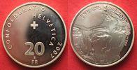 2007 Schweiz EIDGENOSSENSCHAFT 20 Franken...