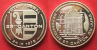 1978 Schweiz - Medaillen KANTON JURA ABST...
