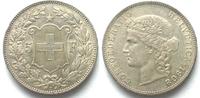 1908 Schweiz EIDGENOSSENSCHAFT 5 Franken ...