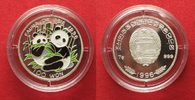 Nordkorea  NORDKOREA 100 Won 1996 PANDA Silber FARBE # 94787