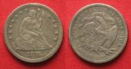 1876 Vereinigte Staaten von Amerika US Seated Liberty Quarter 1876 sil... 44,99 EUR  +  5,00 EUR shipping