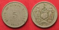 1903 Britisch Nordborneo BRITISH NORTH BORNEO 5 Cents 1903 H Cu-Ni VF ... 19,99 EUR  +  5,00 EUR shipping