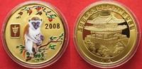 2008 Nordkorea NORTH KOREA 20 Won 2008 Lunar YEAR OF THE MONKEY brass ... 11,99 EUR  +  5,00 EUR shipping