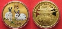 2008 Nordkorea NORTH KOREA 20 Won 2008 Lunar YEAR OF THE RABBIT brass ... 11,99 EUR  +  5,00 EUR shipping