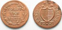 1838 Schweiz - Tessin TESSIN / TICINO 3 S...