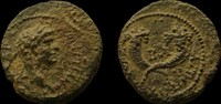Judaea. Agrippa II, with Domitian. AE 1...