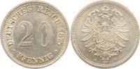 20 Pfennig 1875  H Kleinmünzen  Ganz winz. Kratzer, vorzüglich  110,00 EUR  +  5,00 EUR shipping