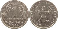 1 Mark 1936  J Drittes Reich  Randfehler, ...