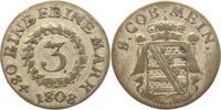 3 Kreuzer 1808 Sachsen-Meiningen Bernhard ...