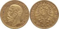 10 Mark Gold 1875  G Baden Friedrich I. 18...