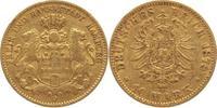 10 Mark Gold 1878  J Hamburg  sehr schön