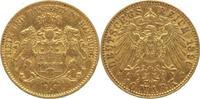 10 Mark Gold 1896  J Hamburg  gutes sehr s...