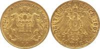 10 Mark Gold 1901  J Hamburg  gutes sehr schön  245,00 EUR kostenloser Versand