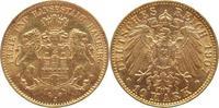 10 Mark Gold 1907  J Hamburg  vorzüglich