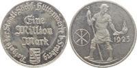 1 Mio. 1923 Freiberg  Fleckig, vorzüglich