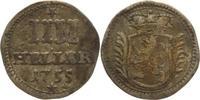 IIII Heller 1755 Hessen-Kassel Wilhelm VII...