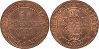 1 Pfennig 1871  B Sachsen-Albertinische Li...