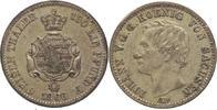1/6 Taler 1866  B Sachsen-Albertinische Li...