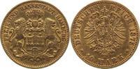 10 Mark Gold 1875  J Hamburg  sehr schön  265,00 EUR kostenloser Versand