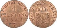 1 Pfennig 1844  A Brandenburg-Preußen Frie...