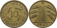 10 Reichspfennig 1933  J Weimarer Republik  Sehr schön+  8,00 EUR  +  5,00 EUR shipping