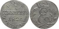 1 Kreuzer 1824  S Sachsen-Coburg-Saalfeld ...