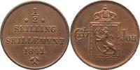 1/2 Skilling 1841 Norwegen Carl XIV. Johan...