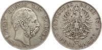 5 Mark 1876  E Sachsen Albert 1873-1902. Kl.Randfehler, sehr schön  55,00 EUR kostenloser Versand