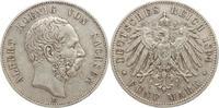 5 Mark 1894  E Sachsen Albert 1873-1902. Sehr schön  65,00 EUR kostenloser Versand