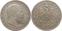 5 Mark 1900  F Württemberg Wilhelm II. 189...