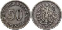 50 Pfennig 1876  F Kleinmünzen  Knapp sehr schön  10,00 EUR kostenloser Versand