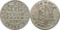 XVI Pfennig 1767 Anhalt-Zerbst Friedrich A...