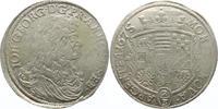 Gulden 1675 Anhalt-Dessau Johann Georg II....