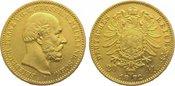 20 Mark Gold 1872  A Mecklenburg-Schwerin Friedrich Franz II. 1842-1883. Sehr schön - vorzüglich