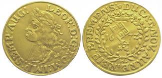 Dukat Gold 1672  HL Bremen, Stadt  Sehr schön - vorzüglich