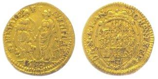 1/4 Dukat Gold 1680 Brandenburg-Ansbach Johann Friedrich 1667-1686. Sehr schön