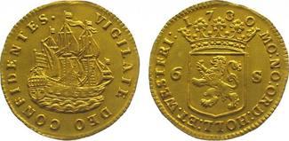 Doppeldukat Gold 1730 Niederlande-Holland, Provinz  Winz. Bearbeitungstelle am Rand, vorzügl
