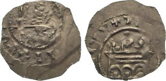 Herzoglicher Pfennig 1120 Regensburg, herzogliche und bischöfliche Mzst. Anonyme Gepräge. Sehr schön