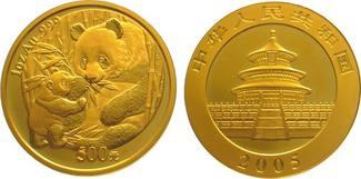 China Gold 2005 Stempelglanz Republik.